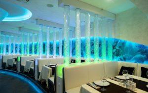 Пузырьковые колоннады в ресторане «NEMO»