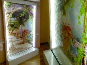 Водопад с фоновым изображением