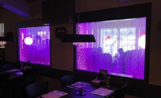 Пузырьковая панель в ресторане